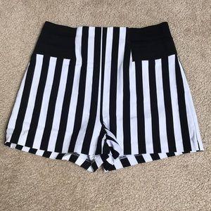 Black & White Striped Shorts
